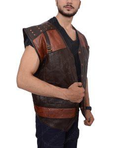Thornwood Brown Leather Vest