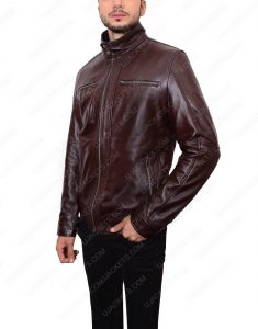 mens dark brown jacket