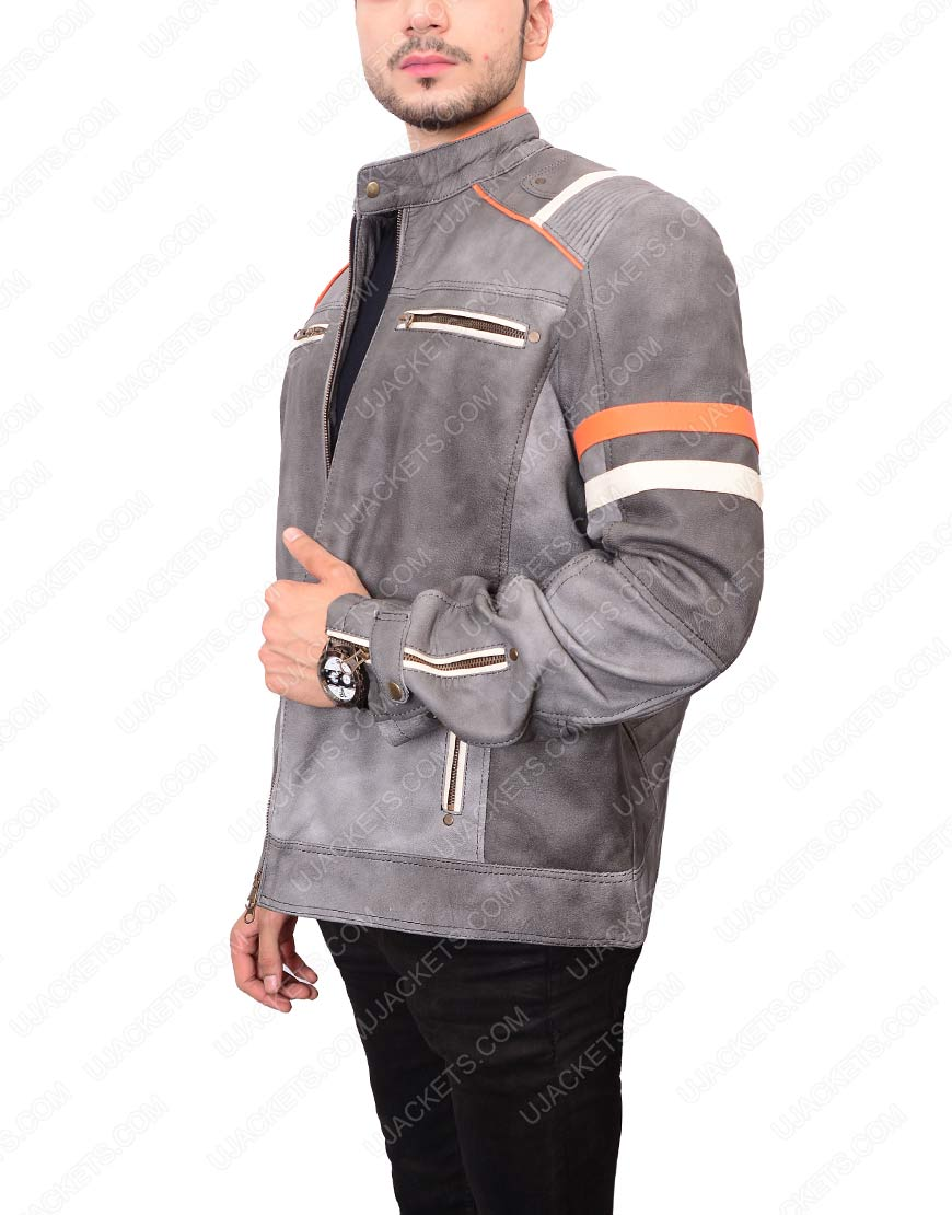 Cafe Racer Grey Jacket