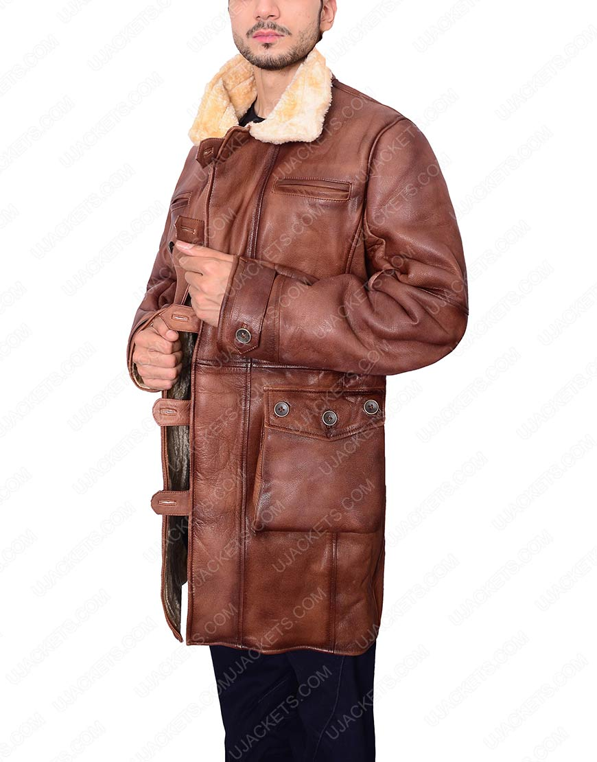 Mens Brown Shearling Coat