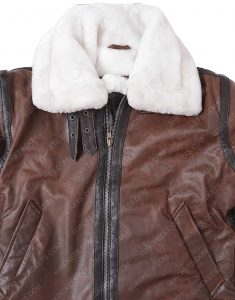 womens distressed brown leather jacket