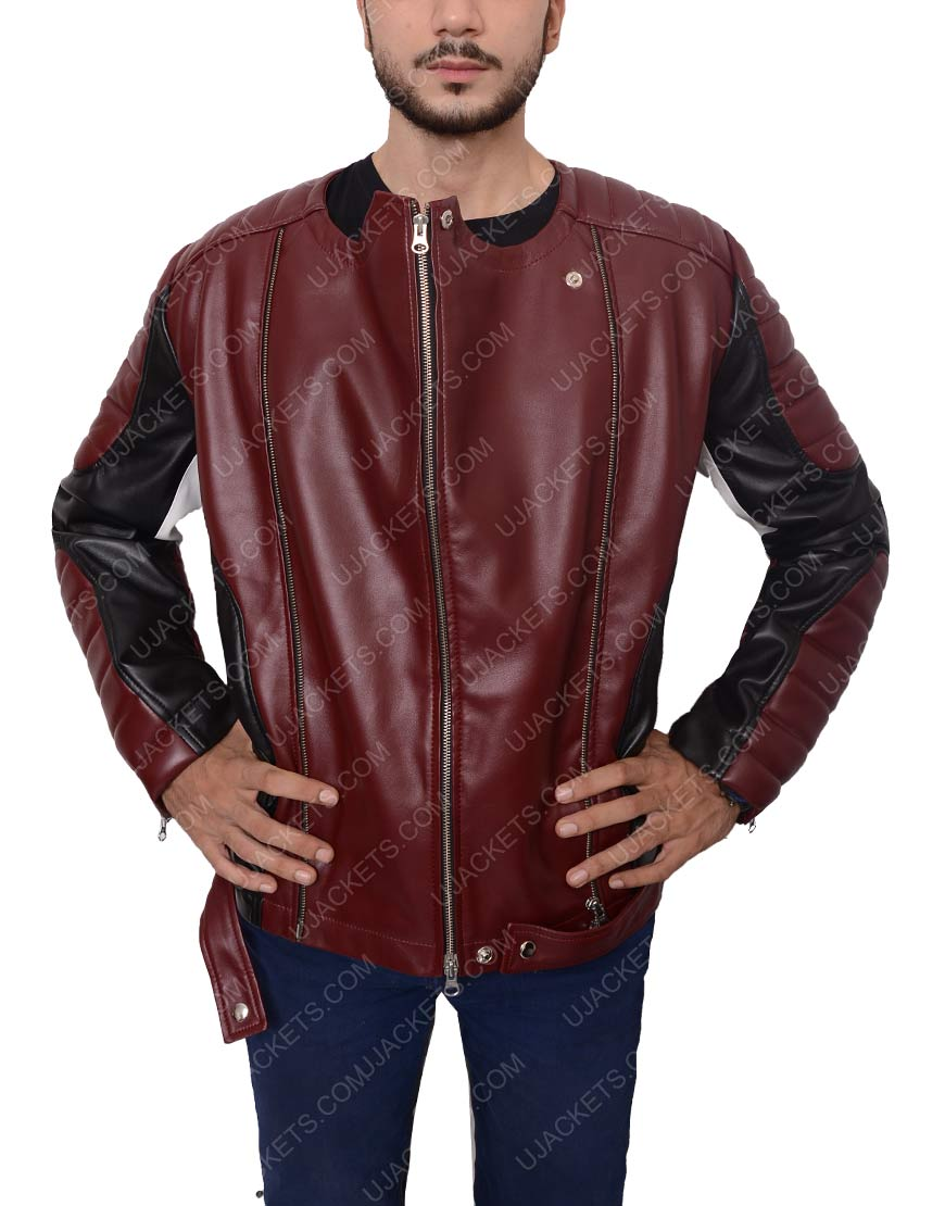 Maroon and Black Jacket