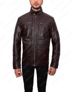 mens casual dark brown jacket