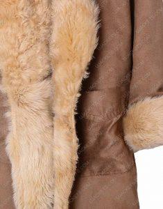 sara lance fur cotton coat