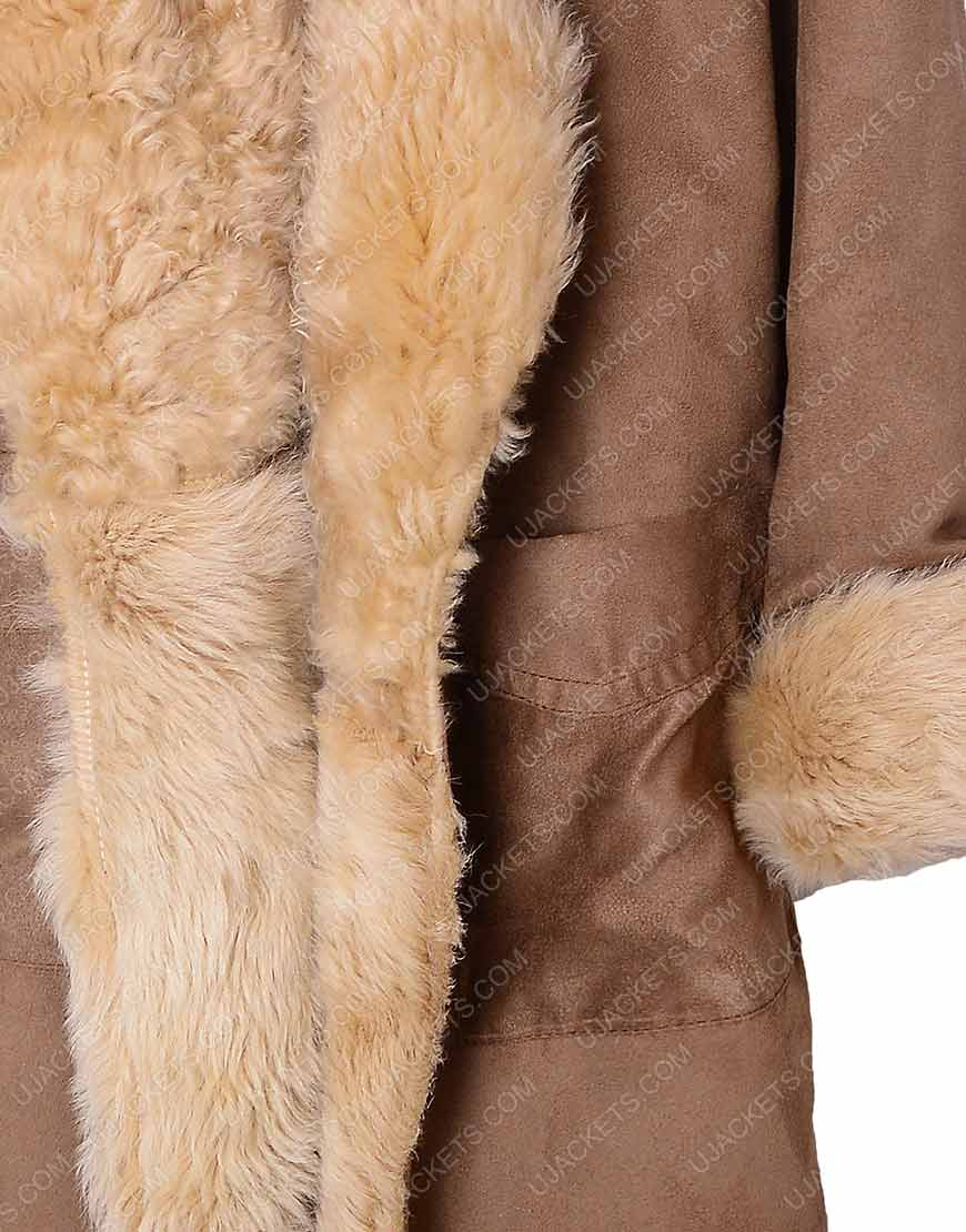 sara lance fur cotton coat