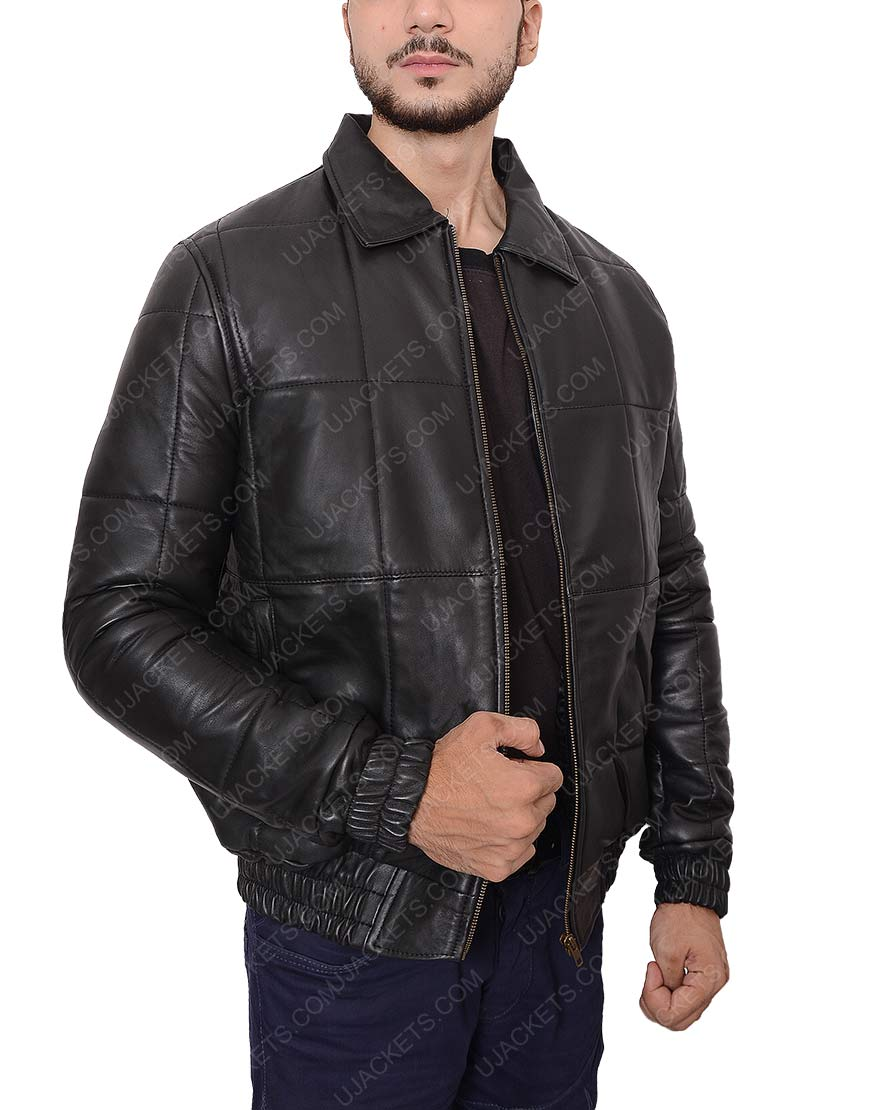 Johnny Depp Black Leather jacket for men