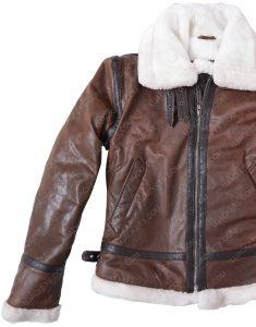 womens distressed aviator jacket