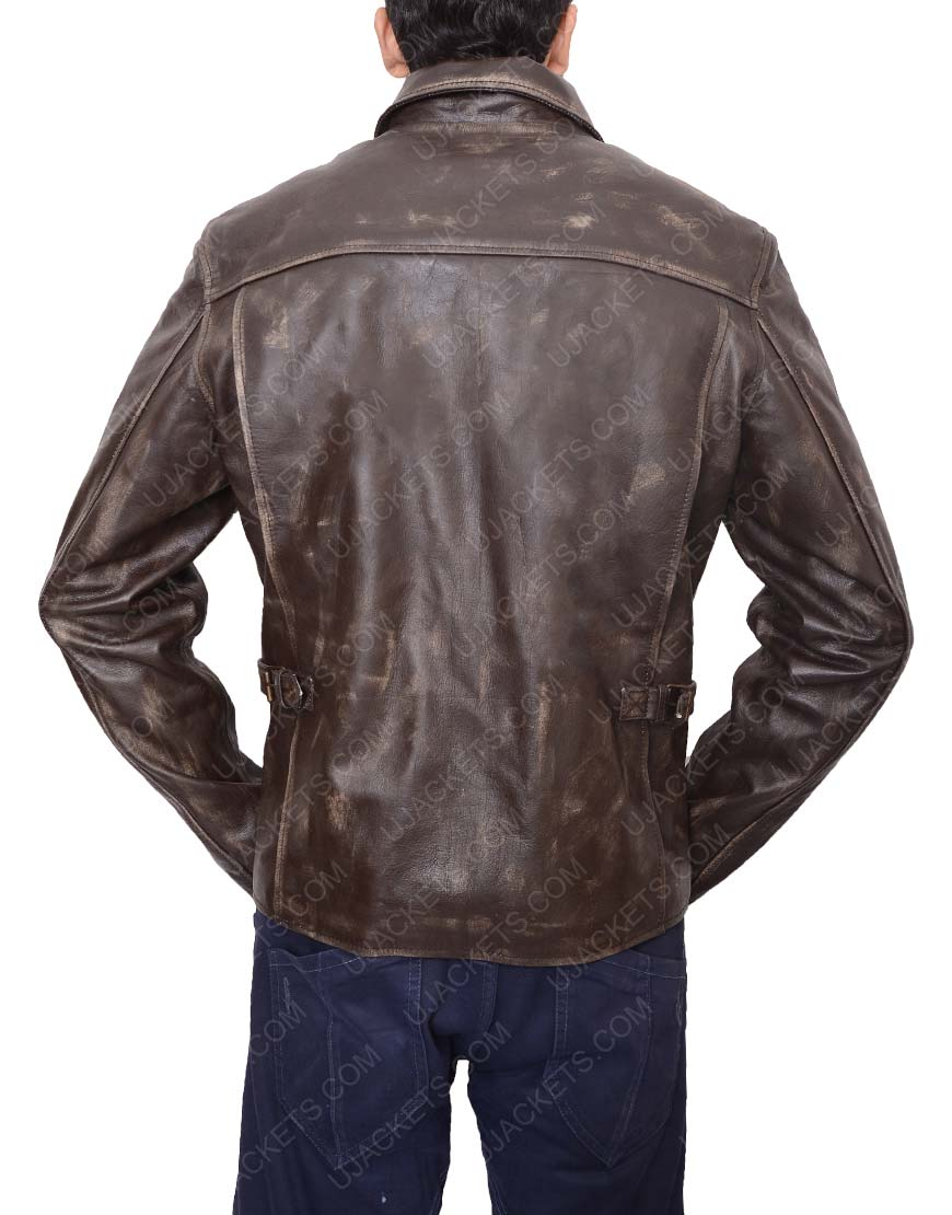 Harrison Ford Brown Leather jacket