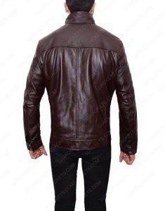 casual mens dark brown jacket