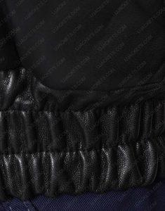 Bomber Black leather Jacket