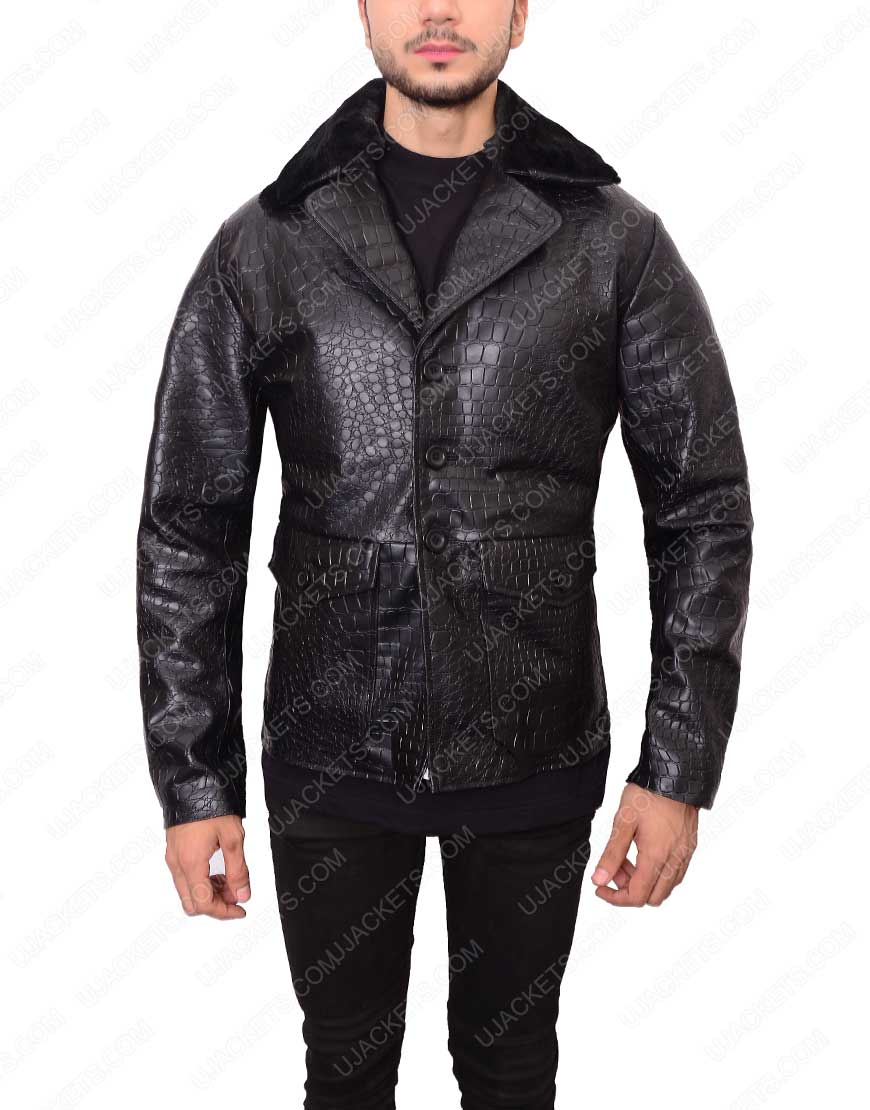 Embossed Crocodile Jacket