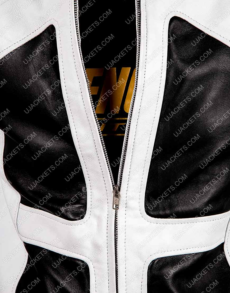 Lewis Tan Shatterstar Black and White Jacket