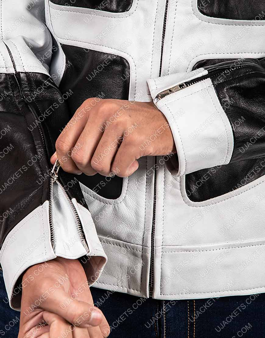 Tan Shatterstar Black and White Jacket