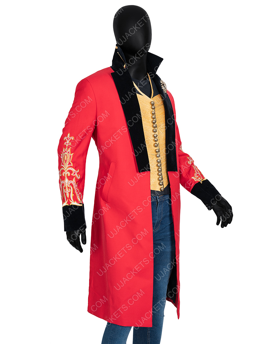 The Greatest Showman P.t. Barnum Hugh Jackman Red Coat With Vest