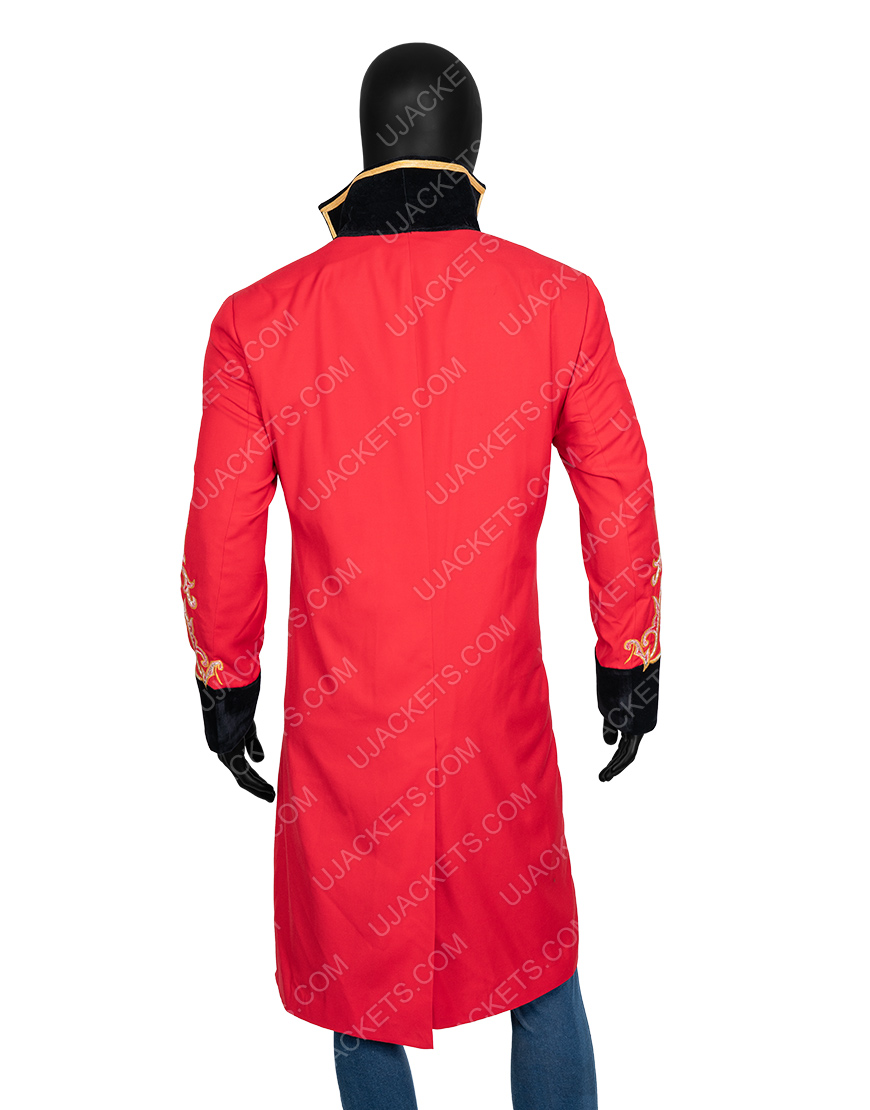 The Greatest Showman P.t. Barnum Hugh Jackman Red Coat