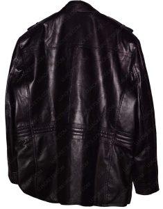 xipper black leather jacket