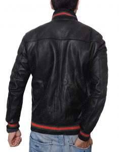 eminem black leather jacket