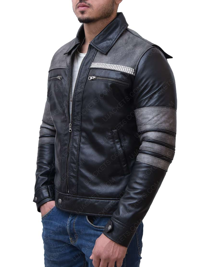 Agents of Shield Iain Agents biker leaather Jacket