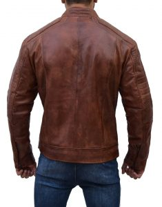Antique Brown Motorcycle Leather Jacket