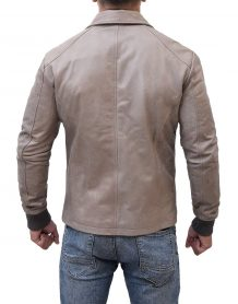 Brown Moto Biker Ryan Reynolds Jacket