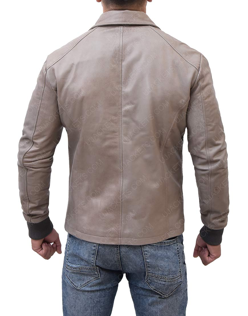 Brown Moto Biker Ryan Reynolds Jacket