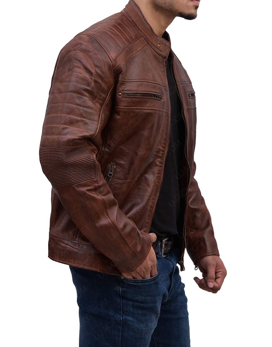 Cafe Racer Biker Learher Jacket