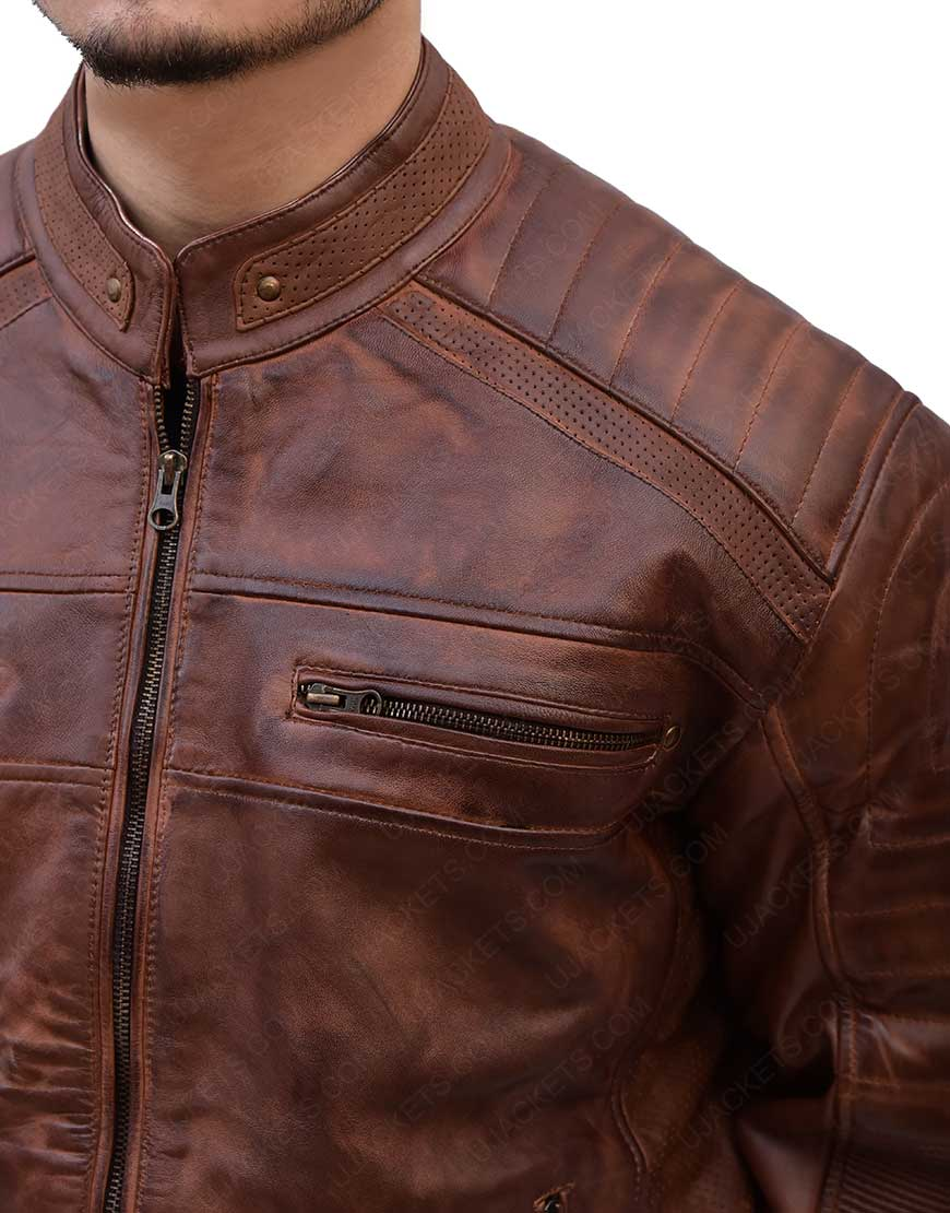 Cafe Racer Genuine Leather Jacket
