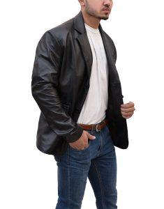 Ethan Hunt Black Mission Impossible Tom Cruise Leather Jacket