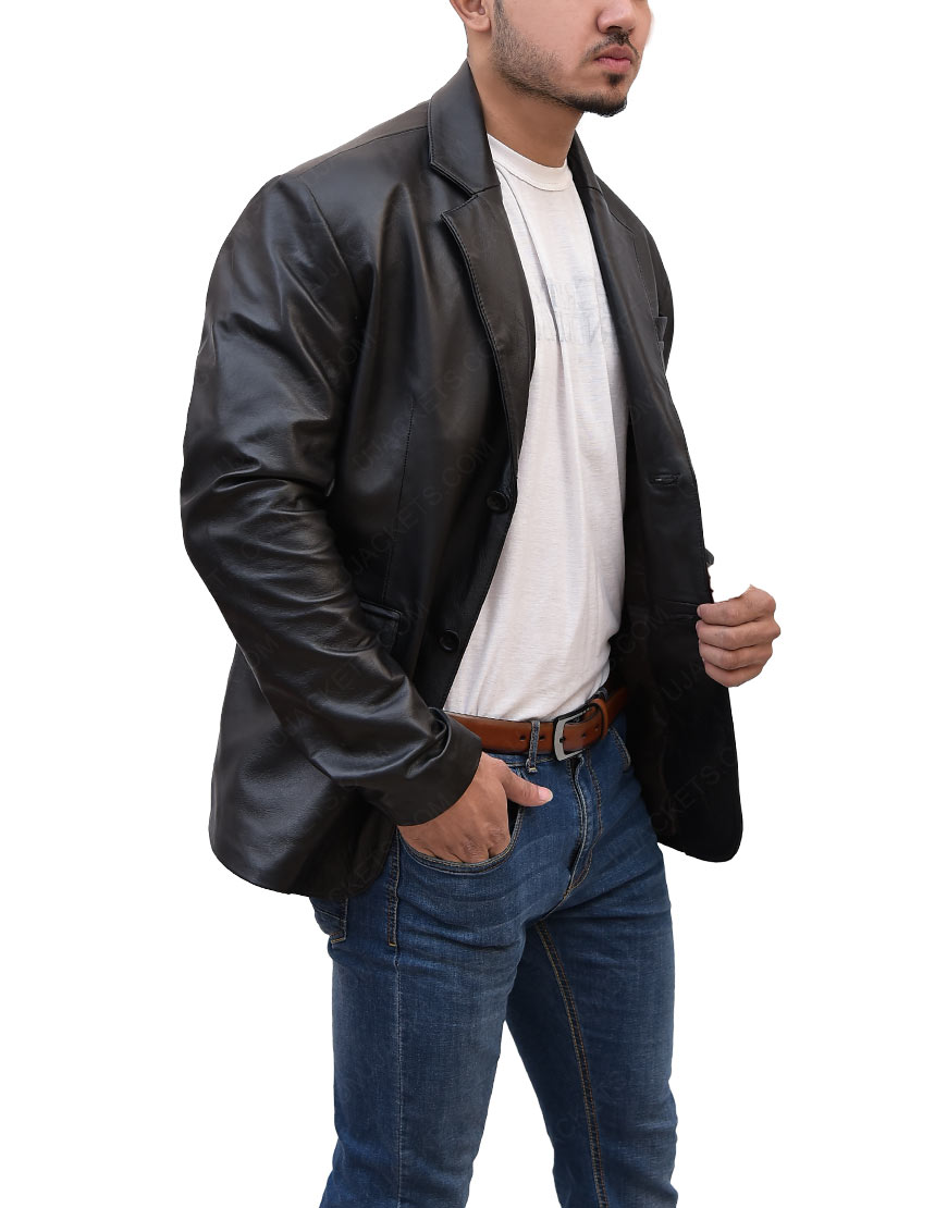 Ethan Hunt Black Mission Impossible Tom Cruise Leather Jacket
