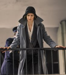 Fantastic Beasts 2 Tina Goldstein Grey Leather Coat