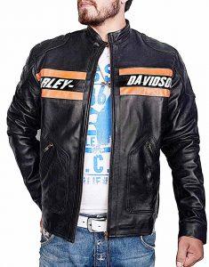 Harley Davidson Vintage Motorcycle Leather Jacket