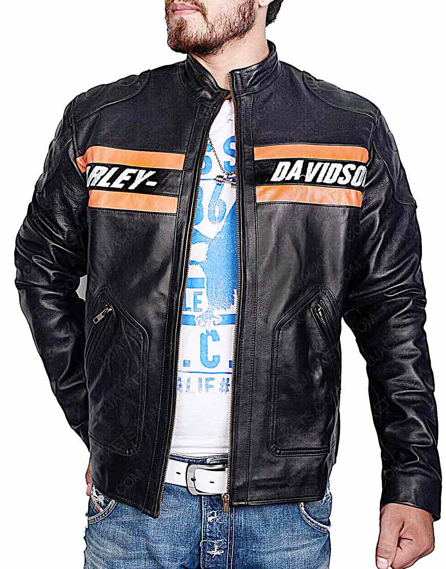 Harley Davidson Vintage Motorcycle Leather Jacket