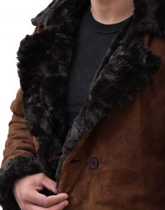 Mickey Snatch Suede Leather Fur Coat