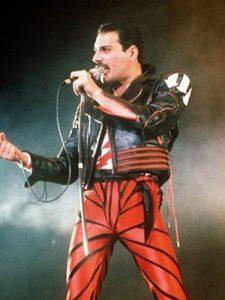 Red and Black Freddie Mercury Leather Jacket
