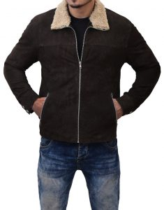 Rick Grimes Suede Leather Jacket-The Walking dead'