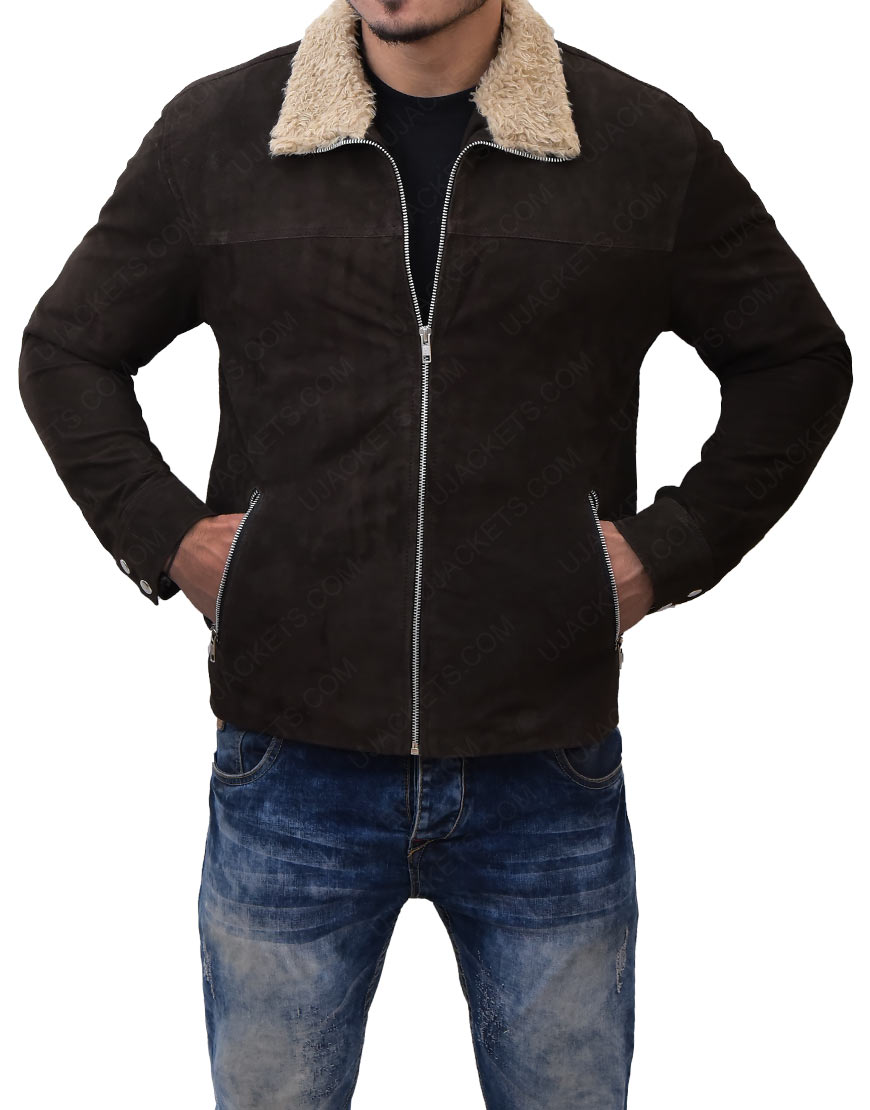Rick GrimesSuede Leather Jacket-The Walking dead'