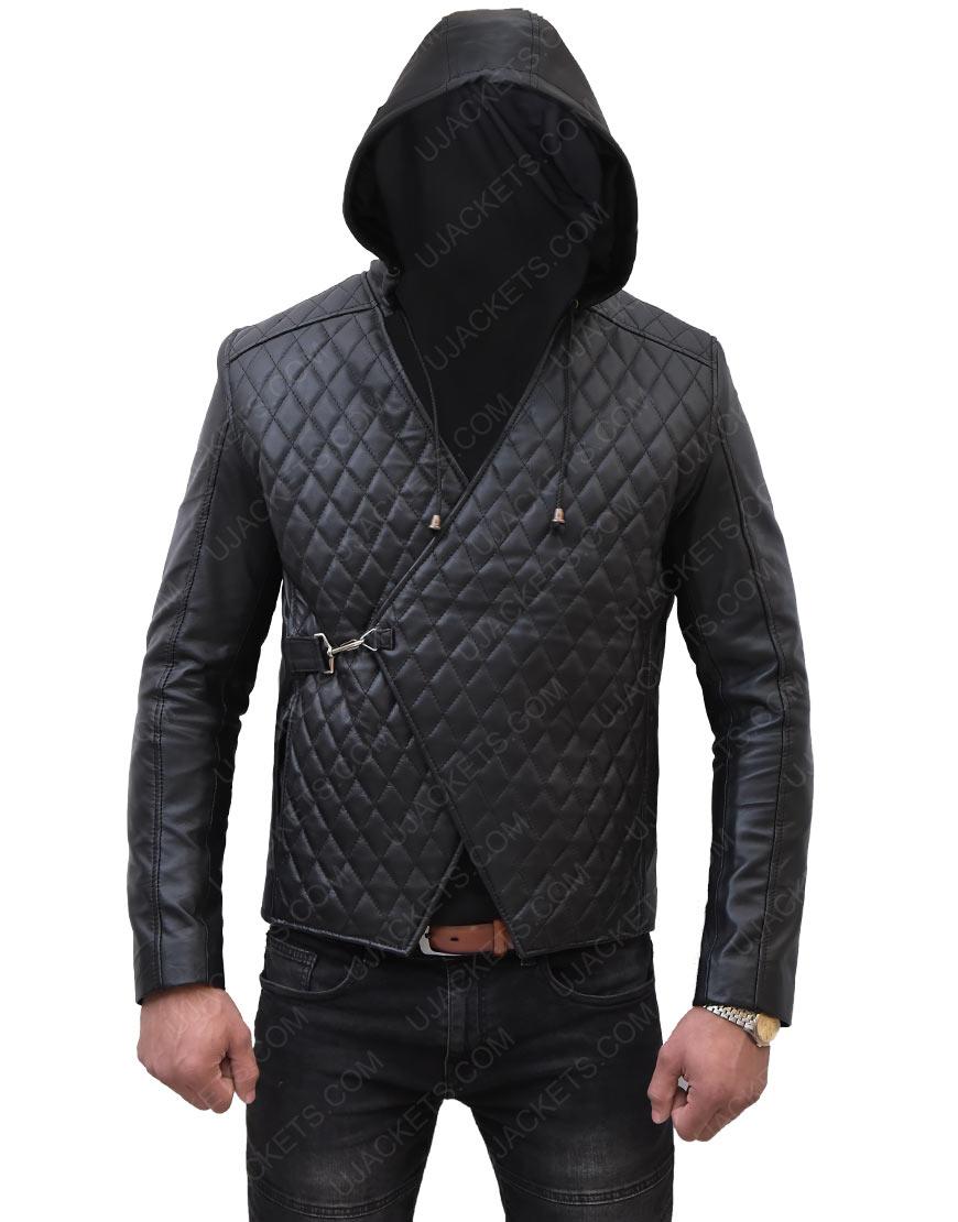 Robin Hood Taron Egerton Leather Jacket