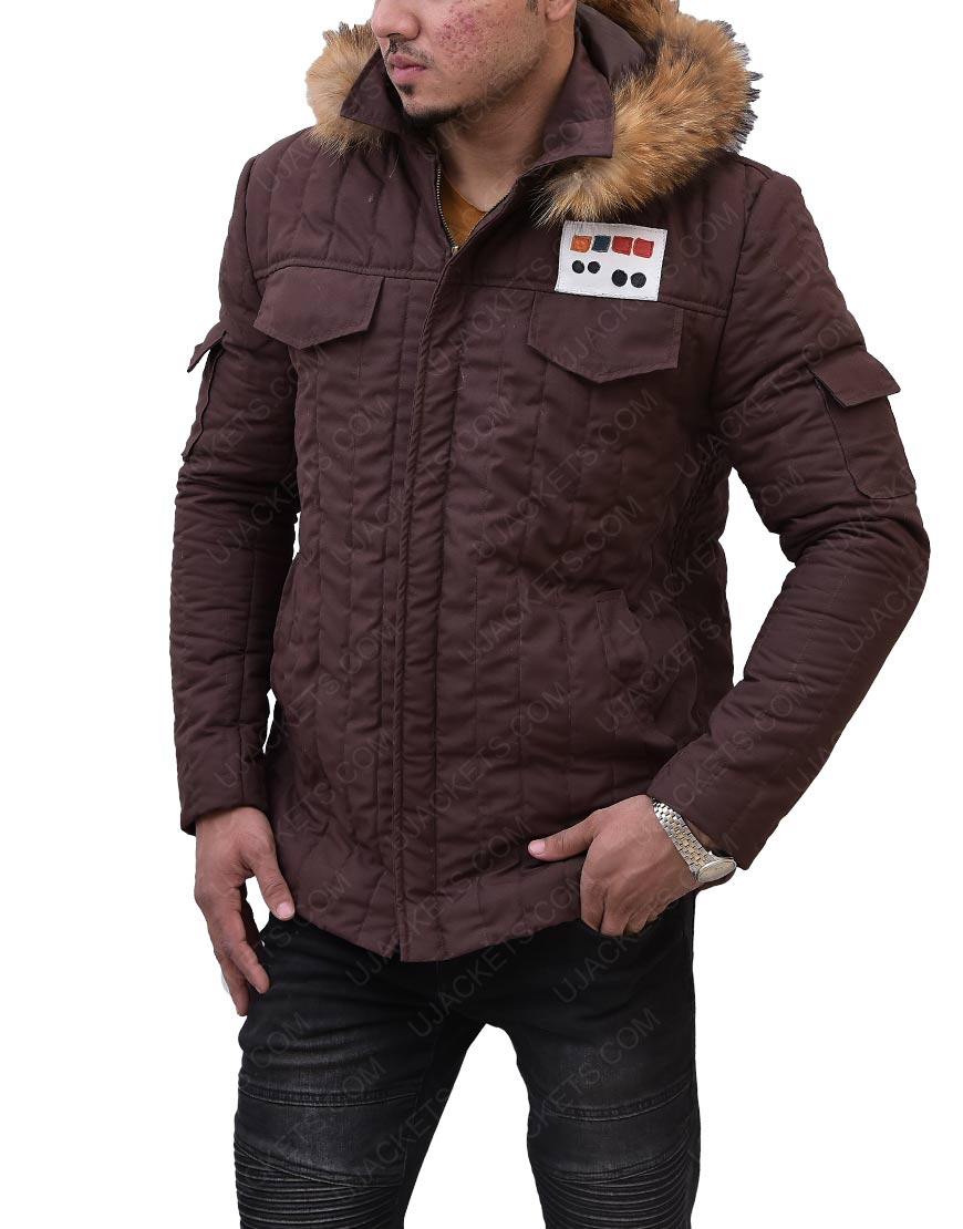 Star Wars Brown Fur Hooded Jacket