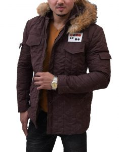 Star Wars Han Solo Hoth Parka Brown Fur Hooded Jacket