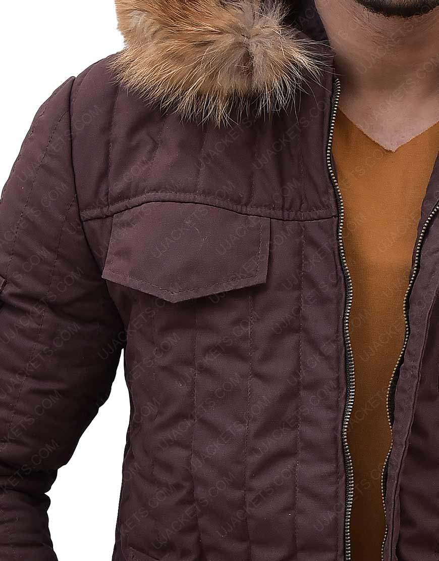 Star Wars Hoth Parka Brown Fur Hooded Jacket