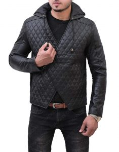 Taron Egerton mortorcyle Leather Jacket