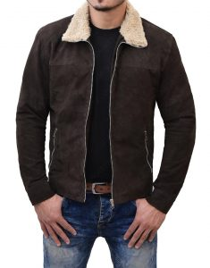 The Walking Rick Grimes Dead Real Suede Leather Jacket