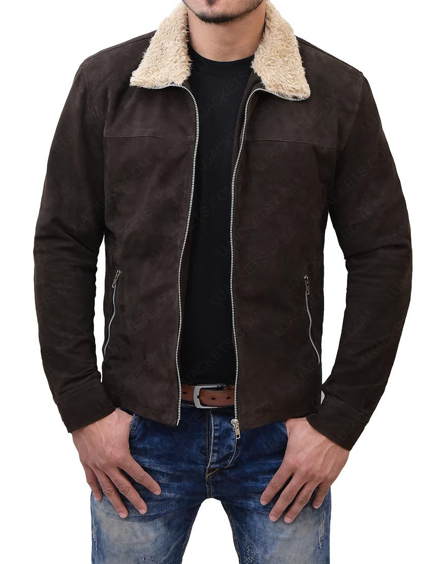 The Walking Rick GrimesDeadReal Suede Leather Jacket