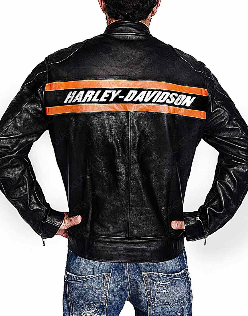WWE Bill Goldberg Harley Davidson Vintage Motorcycle Leather Jacket