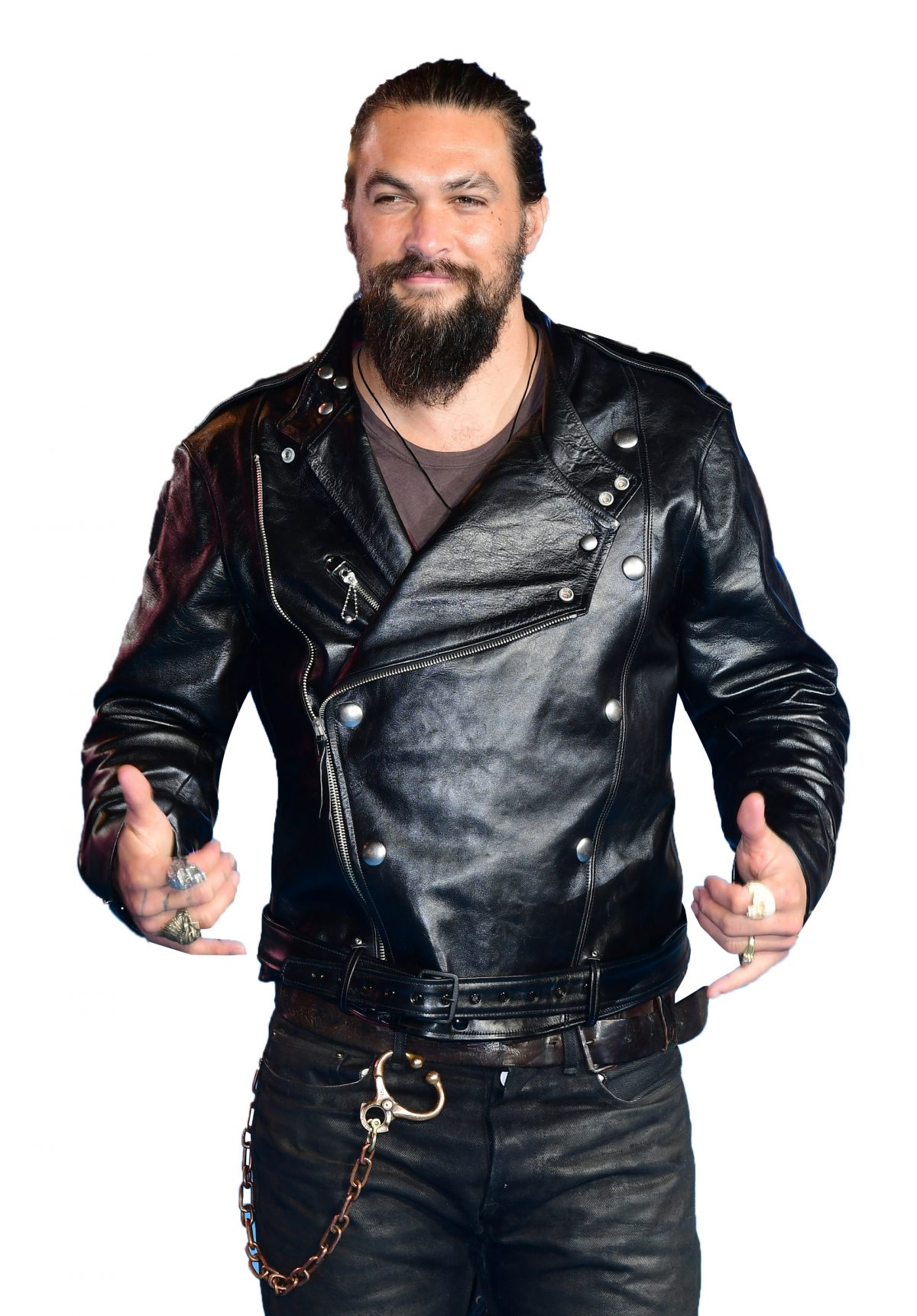 jason momoa aquaman Motorcycle leather Jacket