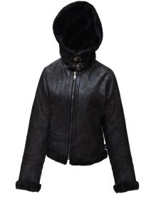 women shearling Leathe Jacket