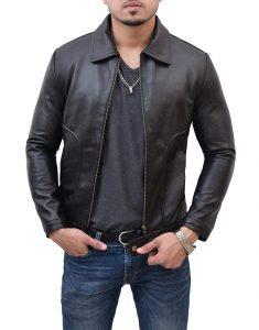 Black James Franco leather Jacket