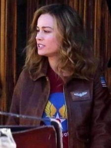 Captain Marvel Carol Danvers Flight Bomber Jacket