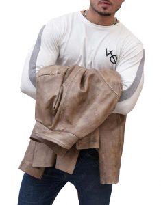 Charlie Prince Leather Jacet