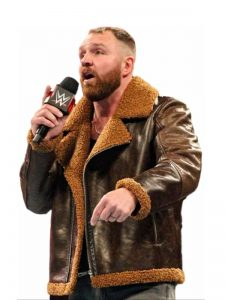 Dean Ambrose Dark Brown Shearling Jacket